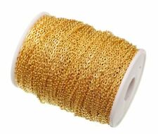 Gold Plated Zinc alloy Cable Link Chains for DIY Jewelry Making 5meter/lot