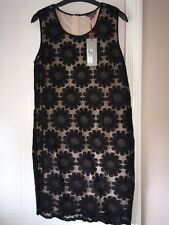 Ladies Black Daisy Flower Dress Autograph Size 8 BNWT Sleeveless
