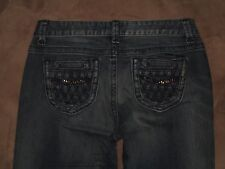 DKNY Size 8  Boot Cut Dark Blue Stretch Denim Womens Jeans