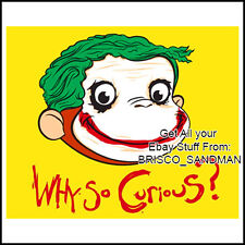 Fridge Fun Refrigerator Magnet WHY SO CURIOUS GEORGE -BATMAN JOKER SPOOF- funny