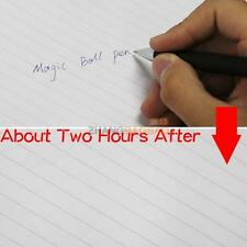 1Pcs Magic Secret Message Spy Ball Pen Invisible In Hours Disappear Slowly Hot