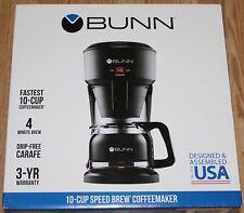 BUNN SPEED BREW 10 CUP COFFEE MAKER, BLACK, MODEL SB