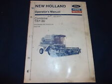 New Holland Tr86 Combine Operation & Maintenance Book Manual S/N 530119-Up