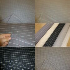 CHECKED WOOL BLEND UPHOLSTERY / CURTAIN FABRIC (5 colours available)