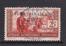 French Eq. Africa - SG 116 - f/u - 1940 - 25c - Chad Family - overprinted
