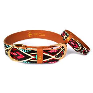 "Dog Collar and Matching Friendship Bracelet Set / The ""Boho collar"""