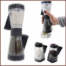 Pre Filled Salt & Pepper Duet Grinder Kitchen Food Preparation Table Cruet Pot