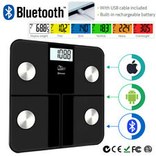 8 In1 Bluetooth Bathroom Body Fat Scales BMI Bone LCD Weighing Scale IOS Android