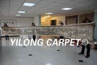 "Yilong 2.5'x29.5' ""qingming riverside seene"" Design Silk Handmade Rug Carpet 225"