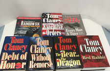Tom Clancy 7 mixed book lot red rabbit without remorse executive order