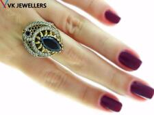 STERLING 925 SILVER SIZE 9 ONYX RING TURKISH HANDMADE SULTAN JEWELRY R1679