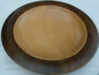Signed HAND-CRAFTED Australia Unique CYPRESS WOOD BOWL VG Retro Man Cave - Aust