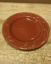 Heartland at Home America Burgundy Leaves Salad Plate 8 1/8""
