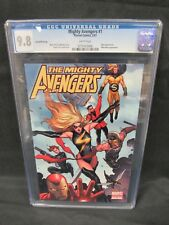 Mighty Avengers #1 (2007) 2nd Print Variant CGC 9.8 White Pages C915