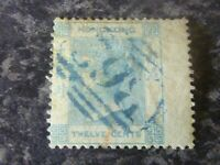 HONG KONG POSTAGE STAMP SG3 TWELVE CENTS 1862-3 FINE USED