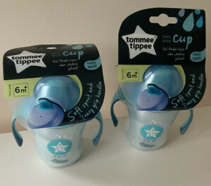 Tommee Tippee Non Spill Easy Drink Cup 6 Months+ Blue Star x 2