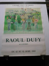 Affiche d'expo Art - RAOUL DUFY - LITHOGRAPHIE MOURLOT 1969 - 40 COURSES