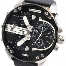 DIESEL Fall 2014 Men's 57mm Black Calfskin Stainless Steel Case Watch DZ7313