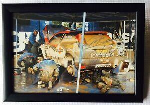"Colin McRae Derek Ringer Ford RS Signed 12"" x 8"" Framed Photograph Rare item!"