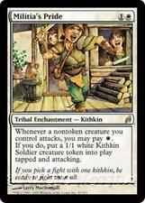 MILITIA'S PRIDE Lorwyn MTG White Tribal Enchantment — Kithkin Soldier RARE