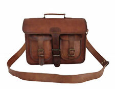 13 inches MacBook Satchel Real Leather Laptop Briefcase Leather Messenger Bag
