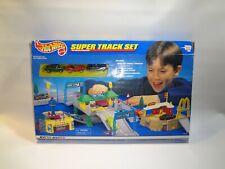 Hot Wheels Super Track Set Vintage 1998 McDonalds Toll Booth Open Box