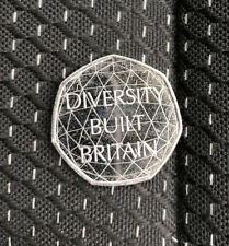 X1 Uncirculated 2020 50p Diversity Built Britain Coin *In hand*