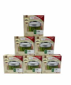 Kerr Wide Mouth Canning Lids 6 Boxes (No Bands) 72 Lids Total BPA Free