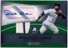 ROBINSON CANO 2010 Bowman Platinum Auto Jersey Green Refractor Card 135/199