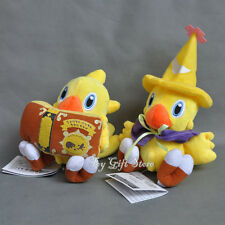 2PCS Final Fantasy VII Plush Figure Black Mage & Reading Book Chocobo 7-9""