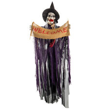 Halloween Decoration Props Scary Skeleton Hanging Animated Voice Lighted Eye