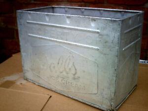 Vintage Retro Walls Ice Cream Aluminium Box Tin Crate