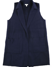 Charter Club Women's X Large XL Sleeveless Knee Length Sweater Vest Blue NEW #33