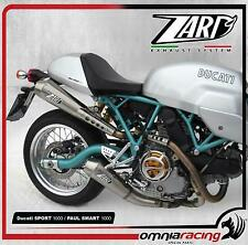 Impianto di Scarico Completo 2:2 Zard Inox Racing Ducati Paul Smart/Sport 1000