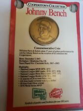 Cooperstown Collection Commemorative Coin.  Johnny Bench!!!