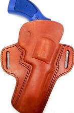 TAGUA BROWN LEATHER OPEN TOP OWB BELT HOLSTER - Ruger 454 Casul