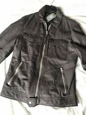 All Saints Garter Leather Jacket Xs Charcoal Grey New With Tags