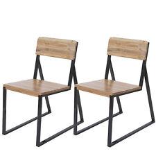 2x chaise de salle à manger HWC-A88, bois d'orme métal design industriel ~ clair