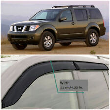 NE10805 Window Visors Guard Vent Wide Deflectors For Nissan Pathfinder 2005-2014
