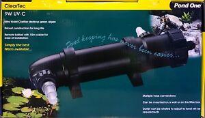 Pond One ClearTec 9w UV Clarifier UV-C Ultra Violet Clarifier 93091 Fast Deliver