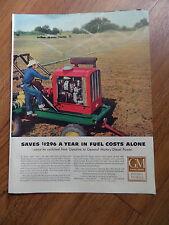 1953  GM General Motors Diesel Ad  Irrigation   A Texas Cattle Raiser