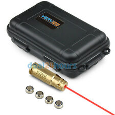 9MM Brass Red Laser Cartridge Bore Sight Boresighter + VERY100 Waterproof Case
