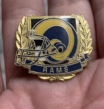 Rams Football Lapel Pin. Enamel. 1993 Peter David.