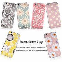Flower Pattern Emboss Soft TPU/Gel Clear Cute Case Cover For iPhone 7 6 6S Plus