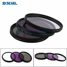 55mm UV CPL FLD Lens Filter Kit for Nikon D5500 D5300 D3300 D750 AF-P DX 18-55mm