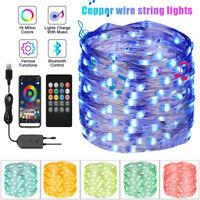 1-20M USB LED Fairy String Lights Décoration jardin mariage avec télécommande SH