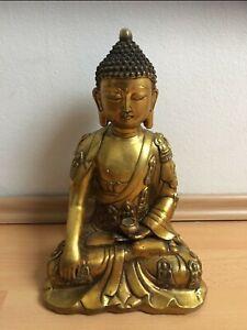 Buddha Bronze Figur Shakyamuni 30 cm aus China Asiatika