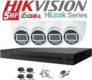 HIKVISION 5MP CCTV HD COLORFUL NIGHT VISION OUTDOOR DVR HOME SECURITY SYSTEM 1TB