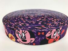 "BTY Colorful 1"" Disney Minnie Mouse Grosgrain Ribbon Hair Bows Lisa"