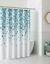 Vcny Fabric Shower Curtain Cascading Pattern Blue Teal Turquoise Aqua